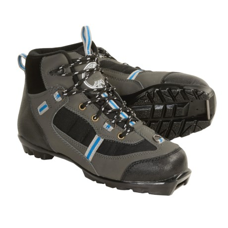 Whitewoods Nordic Ski Boots - Waterproof, NNN (For Men and Women) in Black/Grey/Red