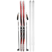 Whitewoods Whitetail Touring Nordic Skis - Rottefella BCA NNN Bindings, Poles in Grey/Red - Closeouts