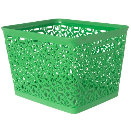 Whitmor Alphabet Storage Tote in Green