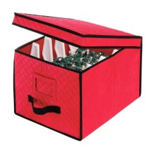 "Whitmor Christmas Light Storage Box - 17x12x10"" in Red - Closeouts"