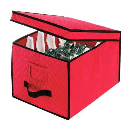 """Whitmor Christmas Light Storage Box - 17x12x10"""" in Red - Closeouts"""