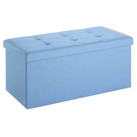Whitmor Collapsible Storage Bench in Parisian Blue - Closeouts
