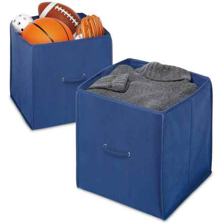 """Whitmor Collapsible Storage Cubes - Set of 2, 14"""" in Blue - Closeouts"""