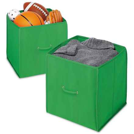"""Whitmor Collapsible Storage Cubes - Set of 2, 14"""" in Green - Closeouts"""