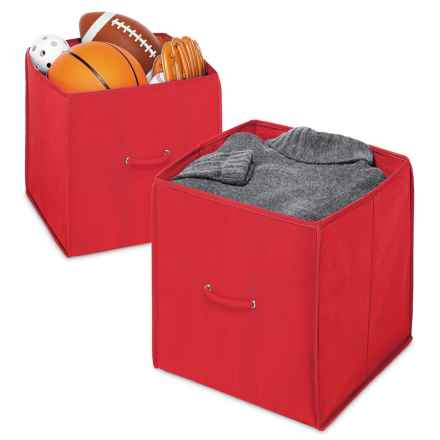 """Whitmor Collapsible Storage Cubes - Set of 2, 14"""" in Red - Closeouts"""