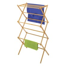Whitmor Folding Drying Rack - Bamboo in Bamboo - Closeouts
