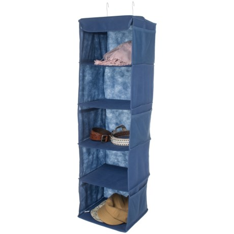 Whitmor Hanging Accessory Shelves in Blue
