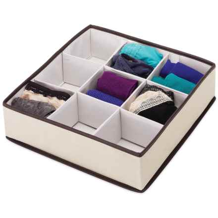 Whitmor Multi-Compartment Drawer Organizer - Large in Beige/Brown - Closeouts