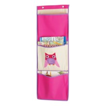 Whitmor Over-the-Door Pocket Organizer in Pink Owl - Closeouts