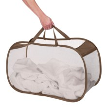 Whitmor Pop and Fold Laundry Basket in Chocolate - Closeouts