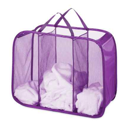 Whitmor Pop-and-Fold Laundry Sorter - 3 Compartments in Purple - Closeouts