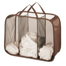 Whitmor Pop and Fold Laundry Sorter in Chocolate - Closeouts
