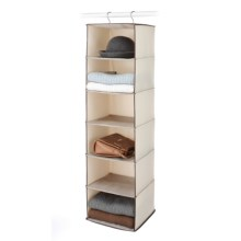 Whitmor Six-Compartment Hanging Shelf in Tweed - Closeouts