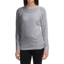Wickers Bi-Wick Shirt - Crew Neck, Long Sleeve (For Women) in Grey Heather - Closeouts