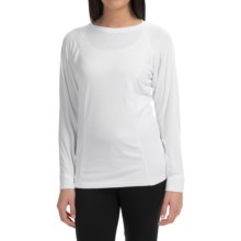Wickers Bi-Wick Shirt - Crew Neck, Long Sleeve (For Women) in White - Closeouts
