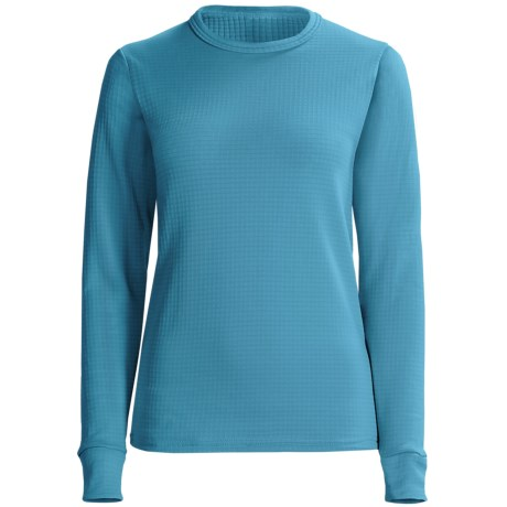 Wickers Comfortrel® Long Underwear Shirt - Expedition Weight, Long Sleeve (For Women) in Blue