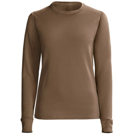 Wickers Comfortrel® Long Underwear Shirt - Expedition Weight, Long Sleeve (For Women) in Light Brown