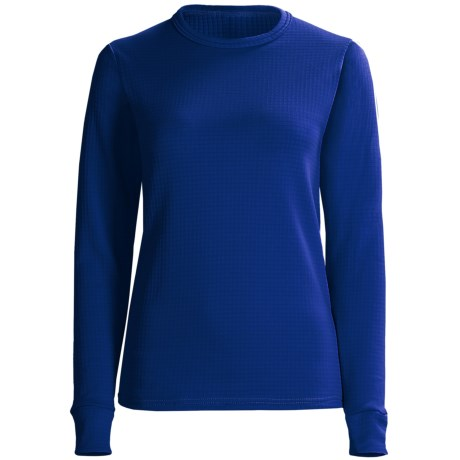 Wickers Comfortrel® Long Underwear Shirt - Expedition Weight, Long Sleeve (For Women) in Royal Blue