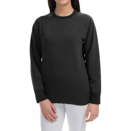 Wickers Expedition Weight Base Layer Top - Long Sleeve (For Women) in Black - Closeouts