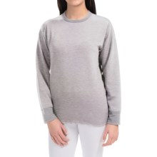 Wickers Expedition Weight Base Layer Top - Long Sleeve (For Women) in Grey Heather - Closeouts