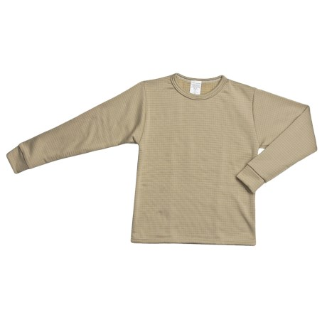 Wickers Expedition Weight Comfortrel® Base Layer Top - Heavyweight, Long Sleeve (For Kids) in Tan