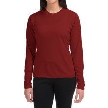 Wickers High-Performance T-Shirt - Long Sleeve (For Women) in Autumn Red - Closeouts