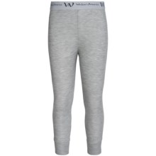 Wickers Lightweight Base Layer Bottoms (For Big Kids) in Grey Heather - Closeouts