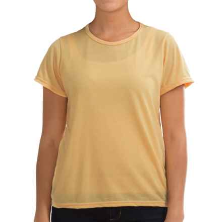 Wickers Lightweight Base Layer T-Shirt - Short Sleeve (For Women) in Chamois - Closeouts