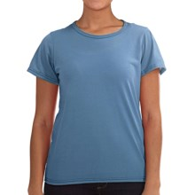 Wickers Lightweight Base Layer T-Shirt - Short Sleeve (For Women) in Iris - Closeouts