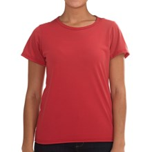 Wickers Lightweight Base Layer T-Shirt - Short Sleeve (For Women) in Mountain Berry - Closeouts