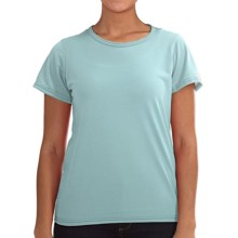 Wickers Lightweight Base Layer T-Shirt - Short Sleeve (For Women) in Sea Salt - Closeouts
