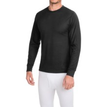 Wickers Lightweight Base Layer Top - Long Sleeve (For Tall Men) in Black - Closeouts