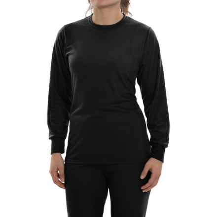 Wickers Lightweight Base Layer Top - Long Sleeve (For Women) in Black - Closeouts