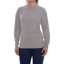 Wickers Lightweight Base Layer Top - Long Sleeve (For Women) in Grey Heather - Closeouts
