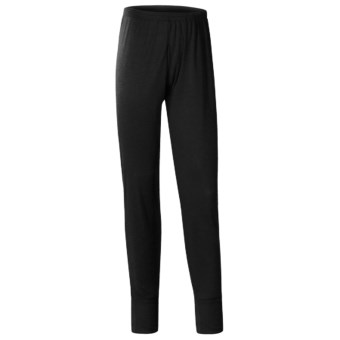 Wickers Long Underwear Bottoms - Midweight, Comfortrel® (For Men) in Black