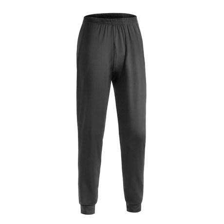 Wickers Long Underwear Bottoms - Midweight, Comfortrel® (For Tall Men) in Black