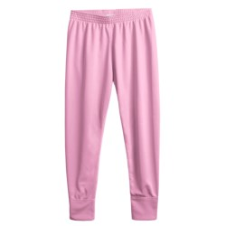 Wickers Long Underwear Bottoms - Midweight (For Kids) in Pink