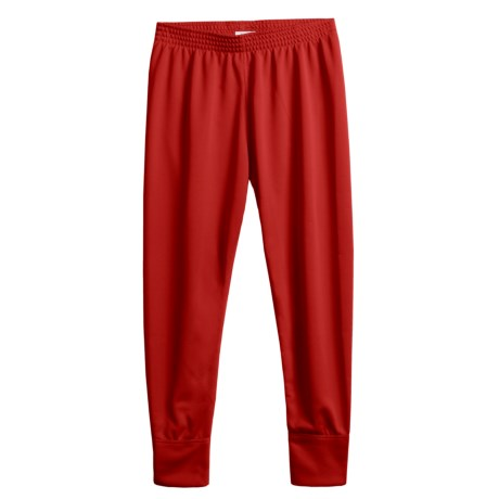 Wickers Long Underwear Bottoms - Midweight (For Kids) in Red