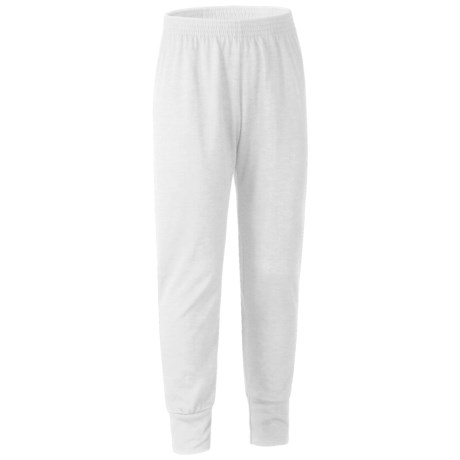 Wickers Long Underwear Bottoms - Midweight (For Kids) in White