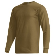 Wickers Long Underwear Shirt - Comfortrel®, Moisture-Wicking, Long Sleeve (For Tall Men) in Brown - 2nds