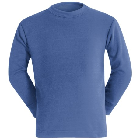 Wickers Long Underwear Shirt - Midweight, Moisture-Wicking, Long Sleeve (For Kids) in Medium Blue