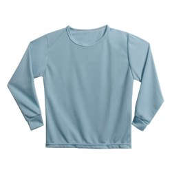 Wickers Long Underwear Shirt - Midweight, Moisture-Wicking, Long Sleeve (For Kids) in Pale Blue