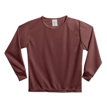 Wickers Long Underwear Shirt - Midweight, Moisture-Wicking, Long Sleeve (For Kids) in Plum - 2nds