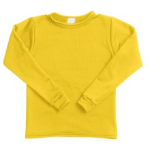 Wickers Long Underwear Shirt - Midweight, Moisture-Wicking, Long Sleeve (For Kids) in Yellow - 2nds