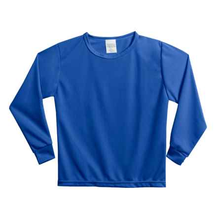 Wickers Long Underwear Shirt - Midweight, Moisture-Wicking, Long Sleeve (For Little and Big Kids) in Royal Blue - 2nds