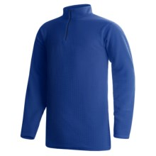 Wickers Long Underwear Shirt - Mock Zip, Long Sleeve (For Tall Men) in Royal Blue - 2nds