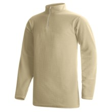 Wickers Long Underwear Shirt - Mock Zip, Long Sleeve (For Tall Men) in Tan - 2nds