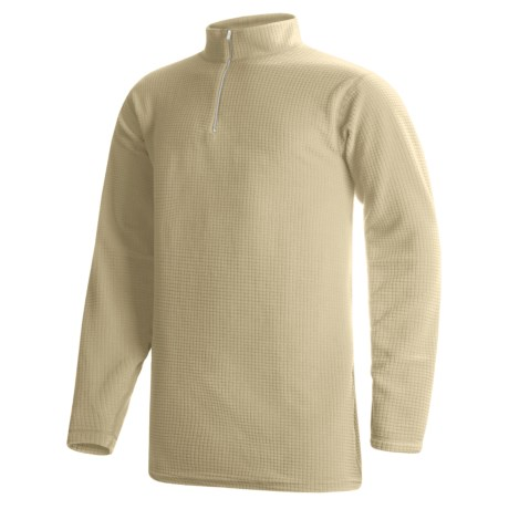 Wickers Long Underwear Shirt - Mock Zip, Long Sleeve (For Tall Men) in Tan