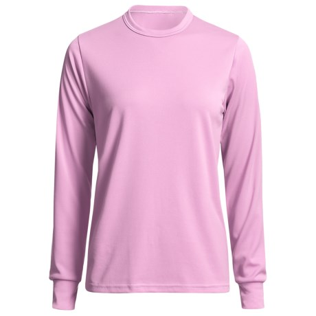 Wickers Long Underwear Top - Comfortrel® Polyester, Lightweight (For Women) in Pink