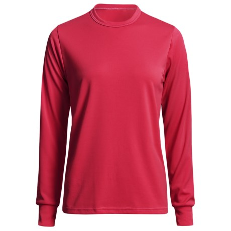 Wickers Long Underwear Top - Comfortrel® Polyester, Lightweight (For Women) in Red